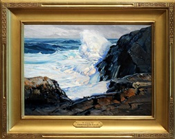 the evening tide [sold] by frederick judd waugh